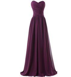 Purple Long Women's Formal Dress - Bridesmaids - Prom - Party