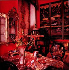 The Peak of Chic®: Iris Apfel, Visual Gourmet Manhattan Apartment, Magnifying Glass, Wall Treatments, Architectural Digest, Chinoiserie, Old World, Master Bedroom, Interior Design, Living Room