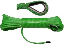 Green 5mm*15m ATV Winch Line, Synthetic Winch Cable,Boat Winch Rope,UTV Winch Accessories