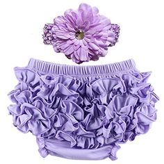 Wennikids Unisex Cotton Ruffled Baby Bloomers Headband Sets 3 Sizes 6 Colors S06M Lavender ** Check this awesome product by going to the link at the image.