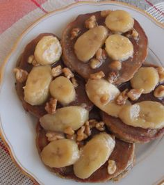 Roasted Banana and Walnuts Pancakes with Banana-Coconut Butterscotch ...
