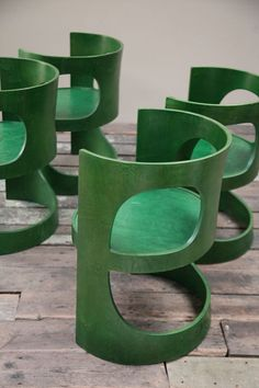 Arne Jacobsen; Stained Plywood 'Pre Prop' Chairs for Asko, 1969.