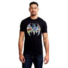 DC Comics Mens - Comic Bat - T-shirt - Black - X-Large