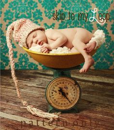 Elf Hat  Crochet Pattern  Baby Hat  Long Tail Hat  by skiptomyloop, $3.99