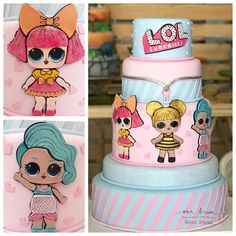 Birthday Party Outfits, Birthday Party Decorations, Funny Birthday Cakes, 8th Birthday, Lol Doll Cake, Splash Party, Party Queen, Doll Party, Disney Cakes