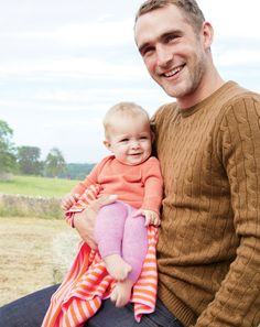 J.Crew - cable knit and a baby, perfect outfit.