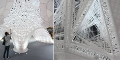 Worlds Largest 3D Printed Pavilion is Inspired by Silkworms  From a distance it looks as though an alien craft has landed on Beijing. Massive white and luminous the mysterious structure is both beautiful and spooky. Come closer though and youll... View the entire article via our website. http://ift.tt/1VJSOSB