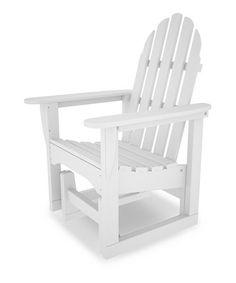 White Classic Adirondack Glider Chair
