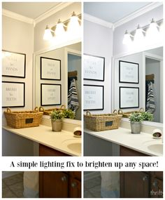 A simple light bulb change makes a huge difference!