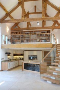8 Converted Barn Homes You'll Want to Live In - COWGIRL Magazine Bright-and-spacious-converted-old-barn<br> Would you love to live in an old barn? These days it's a trendy thing. Check out 8 converted barn homes that will make you want to move on in. Metal Barn Homes, Metal Building Homes, Pole Barn Homes, Building A House, Barn Style Homes, Rustic Barn Homes, Pole Barns, Converted Barn Homes, Barn Conversion Interiors