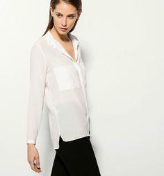 Massimo Dutti Zara Group White Shirt 100 Silk ss16 EUR 36 US4 Ref 5199700 | eBay