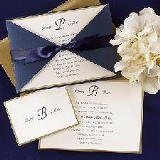 Dark blue and gold formal wedding invitation Blue Wedding Invitations, Gold Invitations, Beautiful Wedding Invitations, Wedding Stationary, Wedding Favors, Wedding Decorations, Elegant Invitations, Invites, Craft Wedding