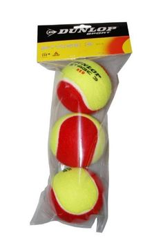 Dunlop Sports Dunlop Stage 3 Red Felt Low Compression 3 Tennis Balls In Polybag by Dunlop. $7.76. Ideal for teaching youngsters the game of tennis, these felt low compression Dunlop Stage 3 balls are designed for 36-foot courts and are recommended for children ages 5-8.