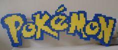 Pokemon logo - perler beads