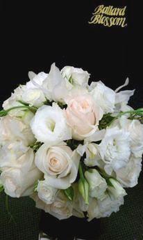"Soft romantic ""Twilight"" inspired bridal bouquet. Designed by Rebekah. Seattle Wedding Flowers, Ballard Blossom Inc"