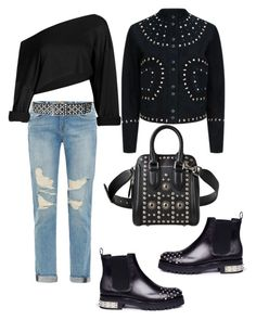 """Sin título #698"" by maricelmartinez on Polyvore featuring moda, Frame, Faith Connexion, Alexander McQueen y Sandro"