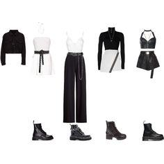 lm - Fashion look Kpop Fashion Outfits, Stage Outfits, Korean Outfits, Retro Outfits, Girl Outfits, Cute Outfits, Korea Dress, Looks Style, K Pop
