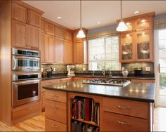 Kitchen Kitchens With Natural Cherry Cabinets And Granite Counters Design, Pictures, Remodel, Decor and Ideas - page