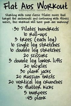Flat Abs Workout #exercise