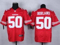 "$23.88 at ""MaryJersey"" (maryjerseyelway@gmail.com) #50 Chris Borland - Nike 49ers Red Team Color Men Stitched NFL Elite Jersey f"