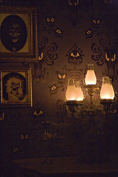"Haunted Mansion. ""The Walls Have Eyes"" ...LOVE this shot! CORRECTLY credited to TheMagicInPixels/Flickr."