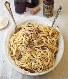 It's cold and rainy outside the Saveur office today - we're craving this rich and comforting Spaghetti alla Carbonara for lunch.