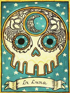 La Luna Day of the Dead skull. #Day_of_the_Dead #skull