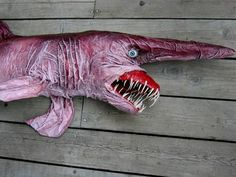 The extremely rare Goblin Shark has only been sighted less than 50 times since its discovery in the 19th century. I want one.