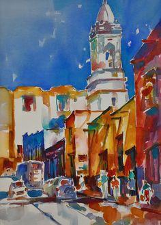 Watercolor by Roger Parent, San Miguel de Allende, Mexico. Exhibited, Florida Watercolor Society Annual 2013
