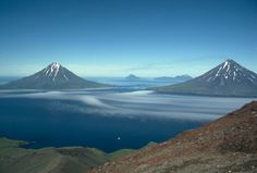 My professor tells me this is the prettiest place in the world.  I guess I'll have to go then.  Aleutian Islands, Alaska.