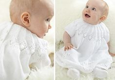 Free Knitting Pattern - Royal Baby Dress By Patons | MakeitCoats.com