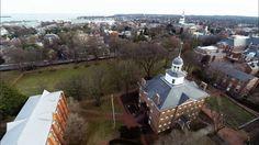 DJI Phantom 2 GoPro Aerial Video Over Annapolis Maryland College Creek S...