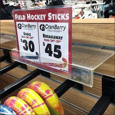Ball-Stopped Slatwall Faceouts are a good choice for Field Hockey merchandising. Though Super- and Heavy-Duty Wire Product Are Utility Hooks would suffice, full Faceouts have a visual mass more in …
