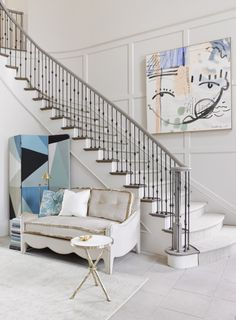 A Swoon-worthy Foyer by Melanie Turner for the Southeastern Designer Showhouse, via @sarahsarna.