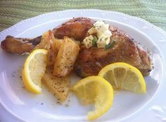Greek Lemon Chicken Recipe with Crispy Potatoes (Kotopoulo Lemonato)