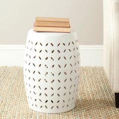 Safavieh Paradise Zen White Ceramic Garden Stool | Overstock™ Shopping - Great Deals on Safavieh Garden Accents