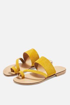 7041560033e5 Topshop HOPE Sandals · Flat SandalsShoes SandalsShoe BootsFlatsYellow ...