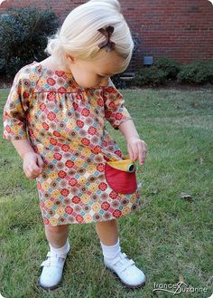 Oliver + S, Picnic Blouse {modified to a dress} by FrancesSuzanne, via Flickr