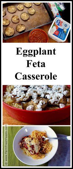Eggplant Feta Casserole www.farmfreshfeasts.com