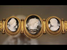 Cameo bracelet, Medusa, signed by T.Saulini, with Venus and Cupid, Rome, about 1860  Exquisite    @ British Museum