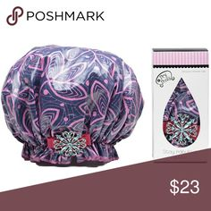Designer shower cap Dry Divas Ivy league laminated shower cap. The elastic stays put and keep your hair 100% dry.  The longevity will blow your Diva mind. The Caps are designed to last up to two to three years. machine washable delicate cycle inside out air dry. The color ribbon and embellishment may vary from the photo show Other
