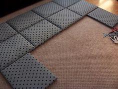 DIY Fabric headboard...looks super easy!