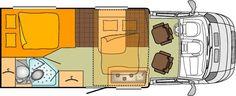 6 Berth motorhome  Interior