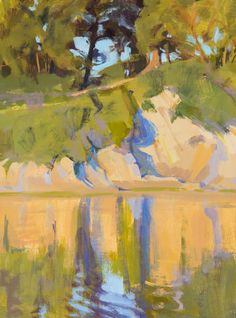Marcia Burtt Lagoon Reflection acrylic 16×12 in. 1,700 no. 1110104
