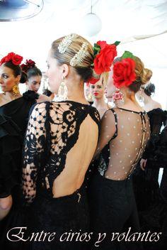Simof 2014 Desfile en la Giralda (2) Dance Dresses, Spain, Crown, Womens Fashion, Beauty, Ballroom Dress, Ruffles, Polka Dots, Fascinators