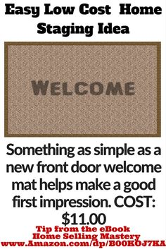 Easy Low Cost Staging Idea Spend 11 00 At On A New Front Door Mat