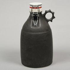 Matte Black Ceramic Growler