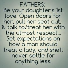 My goal if I become a father to a daughter someday (inshallah).