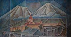 Monte Ararat-95x50 cm- óleo sobre tela-2015-Maria Teresa Barrios