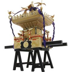 Mikoshi (portable shrine),Decorative,Paper Craft,Asia / Oceania,Japan,Gold,festival,black